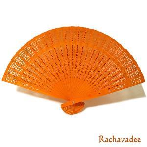 アロマの香りの扇子 ラチャワディーの香り Rachavadee おしゃれな扇子 かわいい扇子 エスニック アジアン 雑貨 バリ 雑貨 タイ 雑貨 アジアン|angkasa