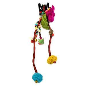 モン族のヘアークリップ L お花  ヘアーアクセサリー アジアン雑貨 タイ エスニック ハンドメイド おしゃれなヘアクリップ |angkasa