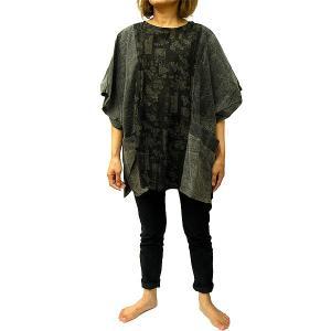 レディーストップス エスニックシャツ カットソー メンズ レディース [着丈約73cm] おしゃれな チュニック ワンピース アジアンファッション アジアン雑貨 タイ|angkasa