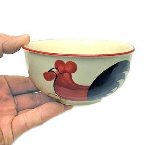 にわとり柄のお茶碗 NEWデザイン [直径12cm] おしゃれな アジアン食器 装飾品 アジアン雑貨 バリ雑貨 ローカルな食器 装飾用|angkasa