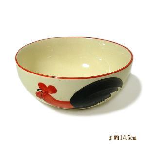 にわとり柄のボウル どんぶり 中鉢 サラダボウル お茶碗 [直径14.5cmx6cm] おしゃれな アジアン食器 装飾品 アジアン雑貨 バリ雑貨 ローカルな食器 装飾用|angkasa