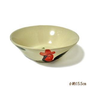 にわとり柄のどんぶり [直径15.5cmx5.5cm] おしゃれな アジアン食器 装飾品 アジアン雑貨 バリ雑貨 ローカルな食器 装飾用|angkasa