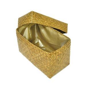 カチュー水草の蓋付きボックス 収納箱 長方形 ナチュラル Sサイズ [横幅約30cm] アジアン雑貨 タイ雑貨 おしゃれな 収納 angkasa