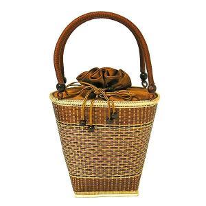 ★現品限り★夏の浴衣にぴったり♪ ラタンのカゴバッグ G 茶 アジアン雑貨 バリ雑貨 タイ雑貨 エスニック|angkasa