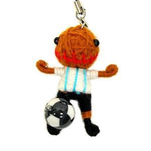 アジアン雑貨 タイ雑貨 ブードゥー人形ストラップ サッカー アルゼンチン [H.6cm] メール便対応|angkasa
