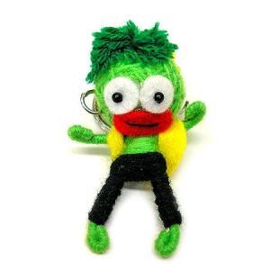 アジアン雑貨 タイ雑貨 ブードゥー人形ストラップ ダンサー 黄緑 [H.6cm] メール便対応|angkasa