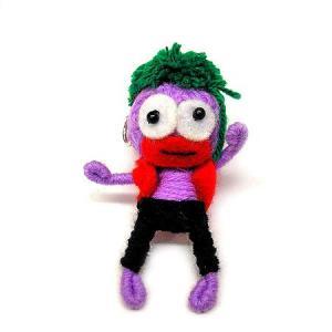 アジアン雑貨 タイ雑貨 ブードゥー人形ストラップ ダンサー 薄紫 [H.6cm] メール便対応|angkasa