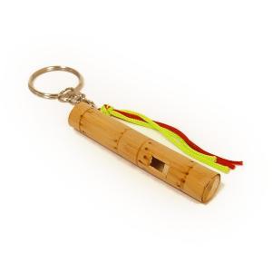 アジアの楽器 タイの竹笛 ホイッスル キーホルダー [長さ約6cm] アジアン雑貨 タイ雑貨 angkasa