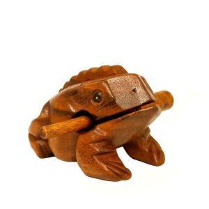 アジアの楽器 チークのゲコゲコかえる モーコック 15cm アジアン雑貨 バリ雑貨 アジアの楽器  angkasa