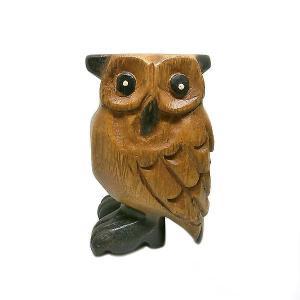 アジア 楽器 フクロウ 笛 ふくろう 鳥笛 10cm 木製 木彫り 彫刻 幸運 開運 アジアン バリ タイ 雑貨 アジアン インテリア  |angkasa