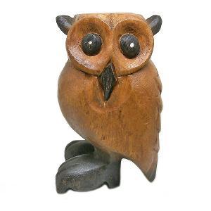 アジア 楽器 フクロウ 笛 ふくろう 鳥笛 13cm 木製 木彫り 彫刻 幸運 開運 アジアン バリ タイ 雑貨 アジアン インテリア  |angkasa