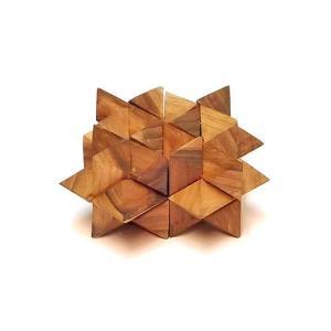 寄木細工のパズル<星型> 難易度4 アジアン雑貨 バリ雑貨 angkasa