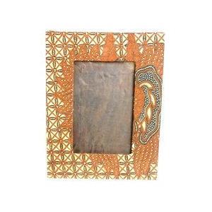 アジアン雑貨 バリ雑貨 バティックの写真立て Lサイズ A フォトフレーム|angkasa