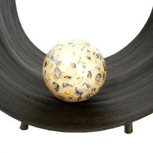インテリアボール ベージュ 貝殻チップ入り アジアン雑貨 バリ雑貨|angkasa