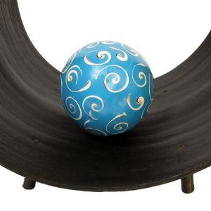 インテリアボール 水色 貝殻チップ入り アジアン雑貨 バリ雑貨|angkasa