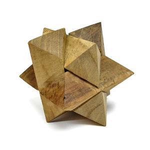 寄木細工のパズル<六芒星型> 難易度3 アジアン雑貨 バリ雑貨 angkasa