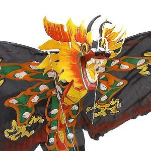 招福来運 バリの凧 飾り凧ドラゴン黒 [全長175cm] アジアン雑貨 バリ雑貨 カイト|angkasa