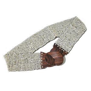 アジアン雑貨 バリ雑貨 バリビーズのベルト E ホワイト [長さ約70〜80cm]|angkasa