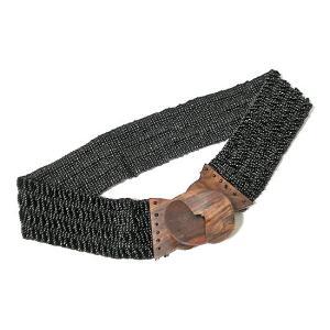 アジアン雑貨 バリ雑貨 バリビーズのベルト O ブラック [長さ約70〜80cm]|angkasa