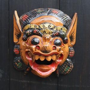木彫りの バロン 壁掛け M 縦22cmx横20cm  アジアン雑貨 バリ雑貨 |angkasa