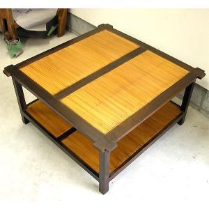 アジアン家具 アジアン雑貨 バリ家具 バンブーとチークの四角テーブル ローテーブル [天板D.約85×85cm]|angkasa
