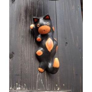 ネコ シッポ ハンガー 黒 丸目タイプ アジアン雑貨 バリ雑貨 タイ エスニック おしゃれなハンガー|angkasa