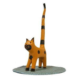 シッポネコのトイレットペーパーホルダー ストッカー ミケ 三毛猫 アジアン雑貨 バリ雑貨 エスニック かわいい 置物 グッズ|angkasa