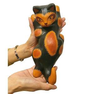 木製ネコシッポハンガー黒 つり目  アジアン雑貨 バリ雑貨 タイ雑貨 エスニック おしゃれなハンガー|angkasa
