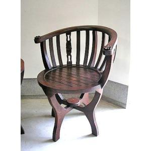 アジアン家具 アジアン雑貨 バリ家具 丸型チェアー シングル チーク|angkasa