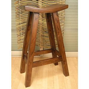 アジアン家具 アジアン雑貨 バリチークのハイ スツール ZEN H.76cm|angkasa