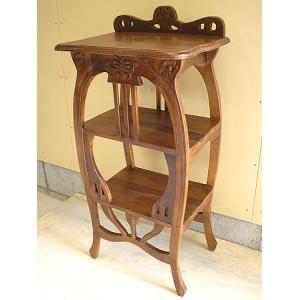 アジアン家具 アジアン雑貨 チークのテレフォン テーブル ブラウン H.94cm|angkasa