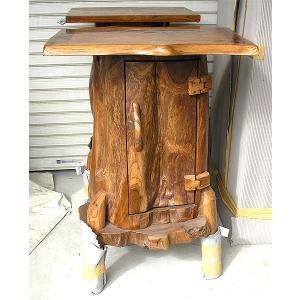 アジアン家具 アジアン雑貨 古木 自然木 チークのキャビネット B  [H.約88.5cm]|angkasa