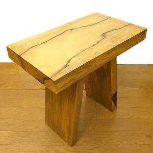 アジアン家具 アジアン雑貨 バリ家具チーク材のスツール白木のゲタ椅子|angkasa