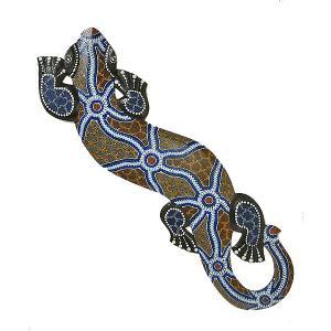 アジアン雑貨 バリ雑貨 壁掛け トカゲ 太目ドットペイント L [約95cm]|angkasa