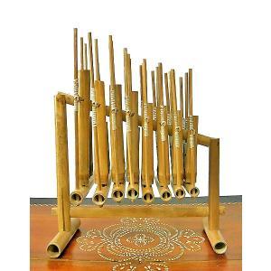 アンクルン AngkLung (M) 竹製 打楽器 [横幅38cm] アジアの楽器 アジアン雑貨 バリ雑貨|angkasa