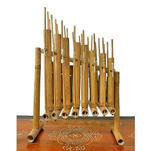 アンクルン AngkLung (L) 竹製 打楽器 [横幅52cm] アジアの楽器 アジアン雑貨 バリ雑貨|angkasa