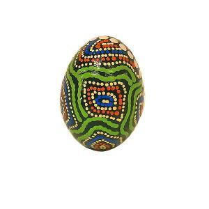 エッグシェーカー ドットペイント 単品 アジアの楽器 アジアン雑貨 バリ雑貨|angkasa