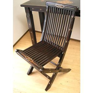 アジアン家具 アジアン雑貨 ロンボク チークの椅子 格子 折りたたみ|angkasa