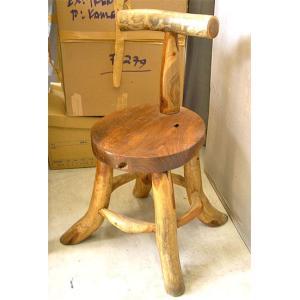 アジアン家具 アジアン雑貨 天然木 チークの椅子 イス スツール|angkasa