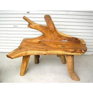 アジアン家具 アジアン雑貨 天然木チークのベンチ  B [W.約115cm]|angkasa