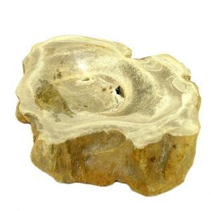 木の化石 灰皿 [横幅約13.5cm 650g] アジアン雑貨 バリ雑貨 エスニック おしゃれな灰皿 変わった灰皿 置物|angkasa