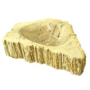 長い年月を経て形成された木の化石シリーズ、ワイルドな雰囲気の灰皿になります。  サイドは木の原型を残...