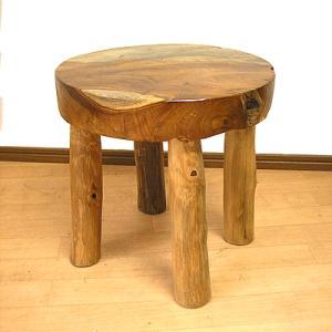 アジアン家具 アジアン雑貨 天然木 チークの椅子 スツール S  H.約30.5cm  イス|angkasa