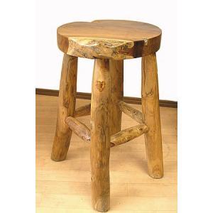アジアン家具 アジアン雑貨 天然木 チークの椅子 スツール Mサイズ H.約46cm angkasa