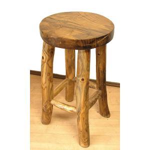 アジアン家具 アジアン雑貨 天然木 チークの椅子 イス スツール Lサイズ H.約60cm イス|angkasa