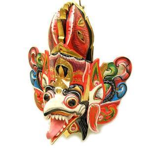 壁掛け 木彫りの『ガルーダ』 ホワイト [横約30cmx縦35cm]  アジアン雑貨 バリ雑貨 |angkasa