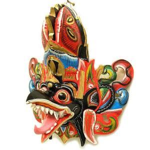壁掛け 木彫りの『ガルーダ』 ブラック [横約30cmx縦35cm]  アジアン雑貨 バリ雑貨 |angkasa