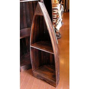 舟のラック ブラウンS2段 H.約98cm アジアン家具 アジアン雑貨 エスニック おしゃれなラック|angkasa