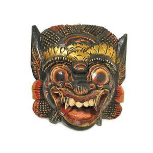木彫りのお面 マスク 『バロン』 壁掛け Sサイズ [縦約20cmx横20cm]  アジアン雑貨 バリ雑貨 |angkasa