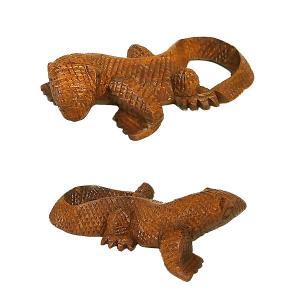 木彫りのコモドドラゴン [全長12cm]ハンドメイド アジアン雑貨 バリ タイ エスニック アニマル 装飾 |angkasa